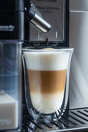 latte macchiato kaffeebohnen